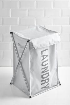 White Folding Laundry