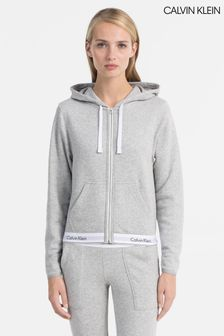 Calvin Klein Grey Top Full Zip Hoody