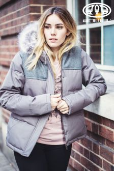 Animal Lloydy Mid Grey 10K Quilted Jacket