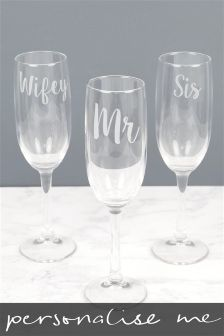 Personalised Champagne Flute By Lisa Angel