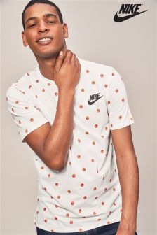 Nike White Smiley Face T-Shirt