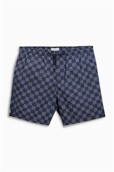 Checkered Print Dock Shorts