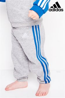 adidas Infant Grey 3-Stripe Jogger