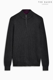 Ted Baker Pistach Half Zip Funnel Neck Jumper