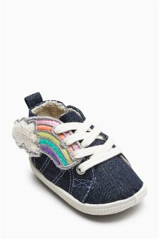 Rainbow High Top Pram Shoes (Younger Girls)