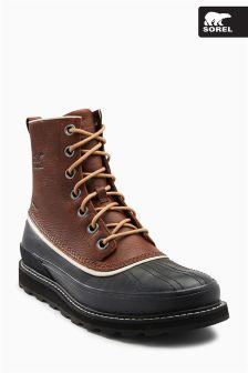 Sorel Black/Brown Madson Waterproof Boot