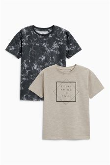 Oversized Fit Graphic T-Shirts Two Pack (3-16yrs)