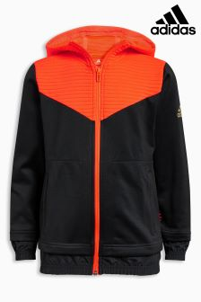adidas Ace Black/Orange Zip Through Hoody