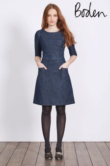 Boden Rinse Indigo Corinne Denim Dress