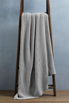 Country Luxe Cotton Knit Throw