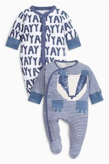 Badger Sleepsuits Two Pack (0mths-2yrs)
