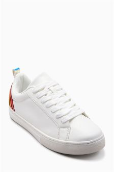 Rainbow Lace-Up Trainers (Older Girls)