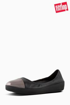 Fitflop™ Black Superbendy Mirror Toe Ballerina