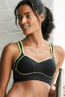 High Impact Non Wired Lightly Padded Sports Bra