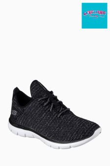 Skechers Black/White Flex Appeal 2.0 Bold Move