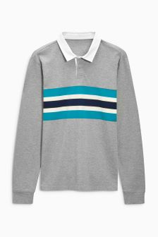 Chest Stripe Rugby Shirt