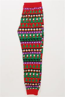 Christmas Fairisle Pattern Cosy Cuffed Bottoms (Mens)