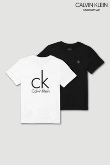 Calvin Klein Black/White Modern Cotton T-Shirt Two Pack