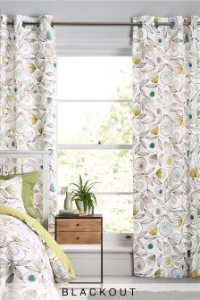 Dandelion Blackout Lined Eyelet Curtains