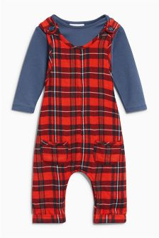 Tartan Dungarees And Bodysuit Set (0mths-2yrs)