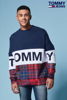 Tommy Hilfiger Denim Blue Tommy Tartan Sweatshirt
