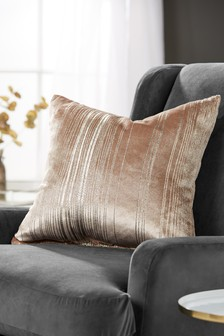 Metallic Stripe Cushion