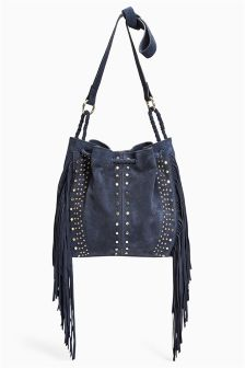 Studded Fringe Duffle Bag