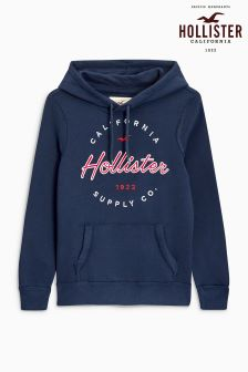 Hollister Navy Seagull Print Hoody