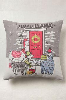 Christmas Llama Cushion