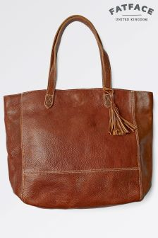 Fat Face Chestnut Large Tassel Tote Bag