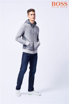 Boss Casual Grey Zeroes Zip Through Hoody