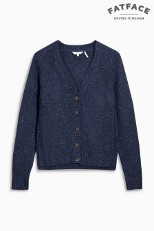 Fat Face Navy Cardigan
