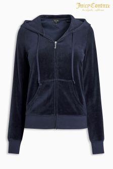 Juicy Couture Blue Velour Slim Fit Track Jacket