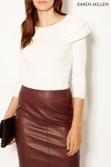 Karen Millen Cream Victoriana Knit Collection Jumper