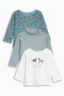 Dog Embellished T-Shirts Three Pack (3mths-6yrs)
