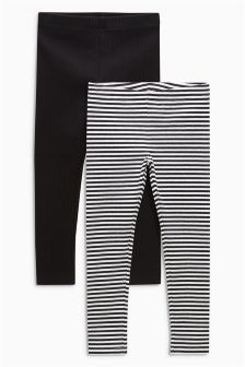 Rib Leggings Two Pack (3-16yrs)