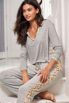 Floral Woven Pyjamas