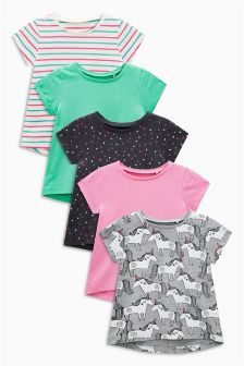 Unicorn Short Sleeve T-Shirts Five Pack (3mths-6yrs)