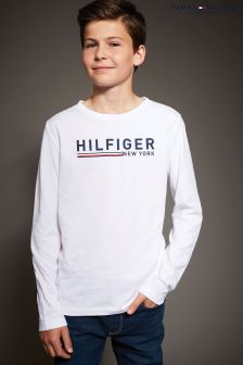 Tommy Hilfiger Branded Long Sleeved T-Shirt