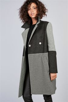 Colourblock Coat