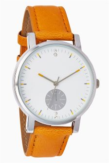 Large Dial Strap Watch