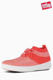 Fitflop™ Hot Coral/Neon Blush Uberknit Slip On High Top Sneaker