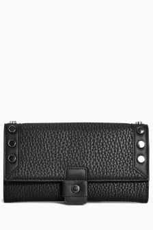 Studded Foldover Purse