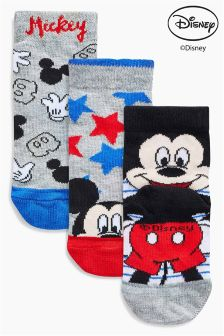 Mickey Mouse Socks Three Pack (Younger Boys)