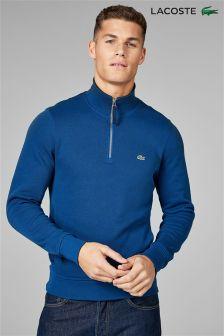 Lacoste® Merino/Navy Blue Quarter Zip Sweatshirt