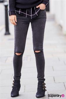 Superdry Charcoal Destroy Sophia Skinny Jean