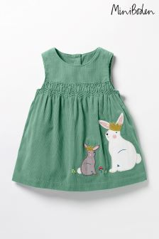 Boden Green Fairytale Appliqué Dress
