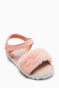 Faux Fur Sandals (Younger Girls)