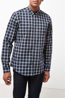 Long Sleeve Smart Check Shirt