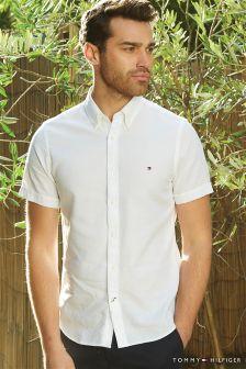 Tommy Hilfiger Cotton White Short Sleeve Shirt